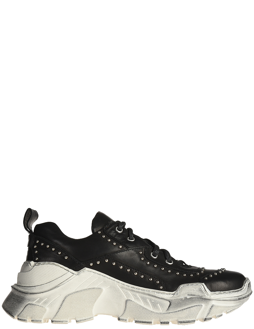 Кожаные чёрные кроссовки FRU.IT (ITALY)