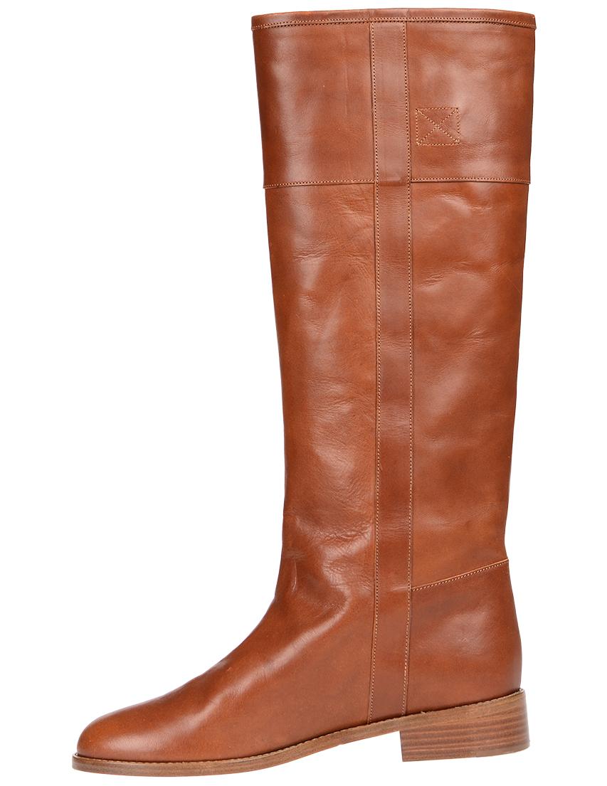 Фото 3 - женские сапоги  коричневого цвета