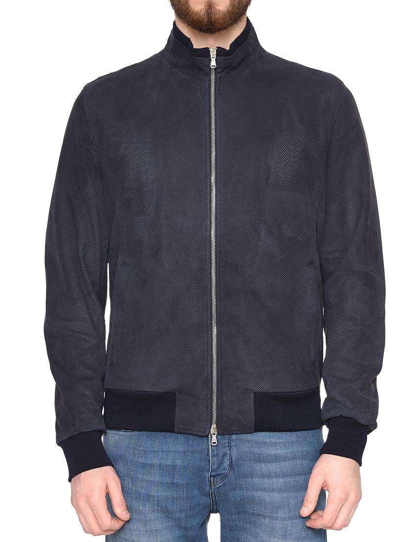 Купить Куртка, BARBA NAPOLI, Синий, 100%Кожа;52%Лен 41%Шерсть 7%Шелк, Весна-Лето