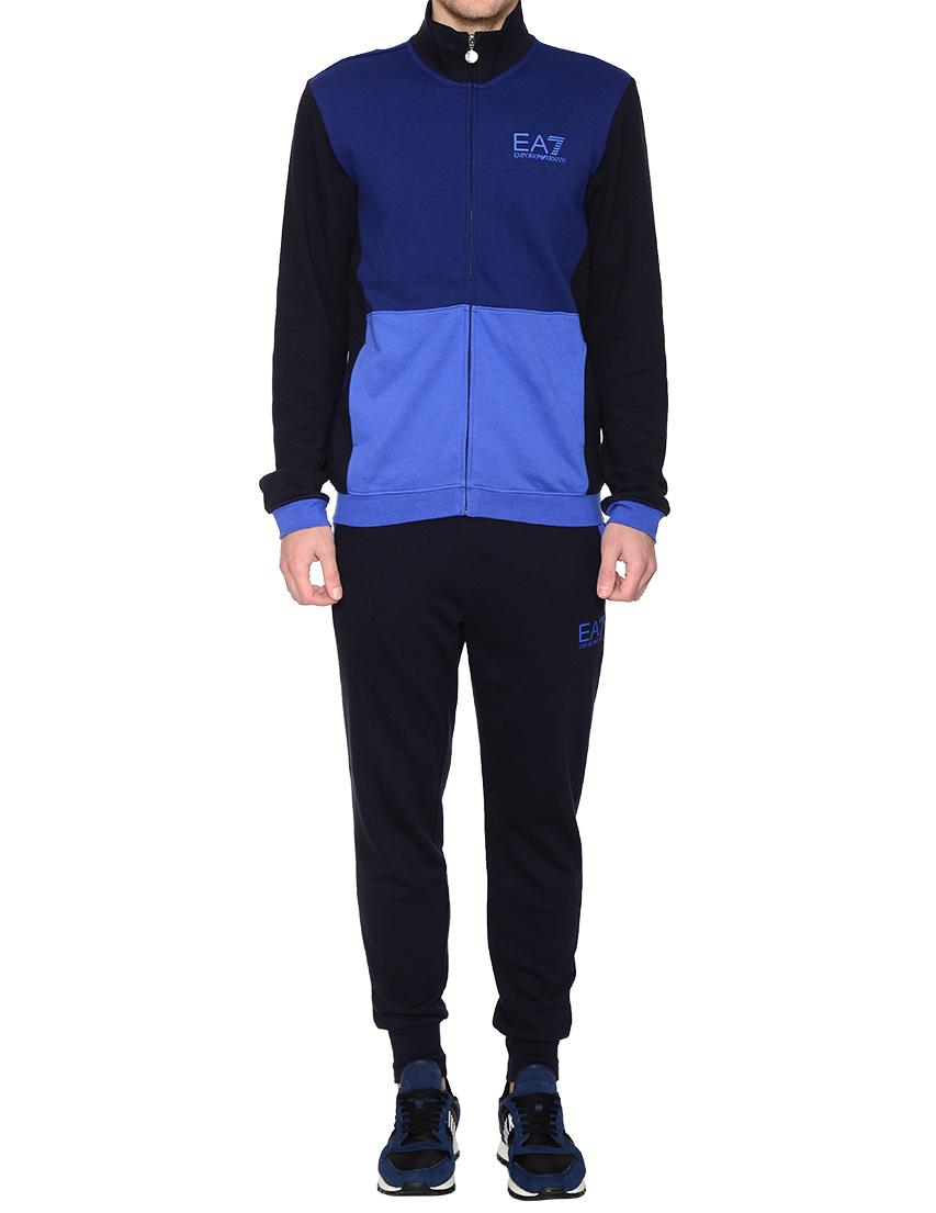 Купить Спортивный костюм, EA7 EMPORIO ARMANI, Синий, 98%Хлопок 2%Эластан, Осень-Зима