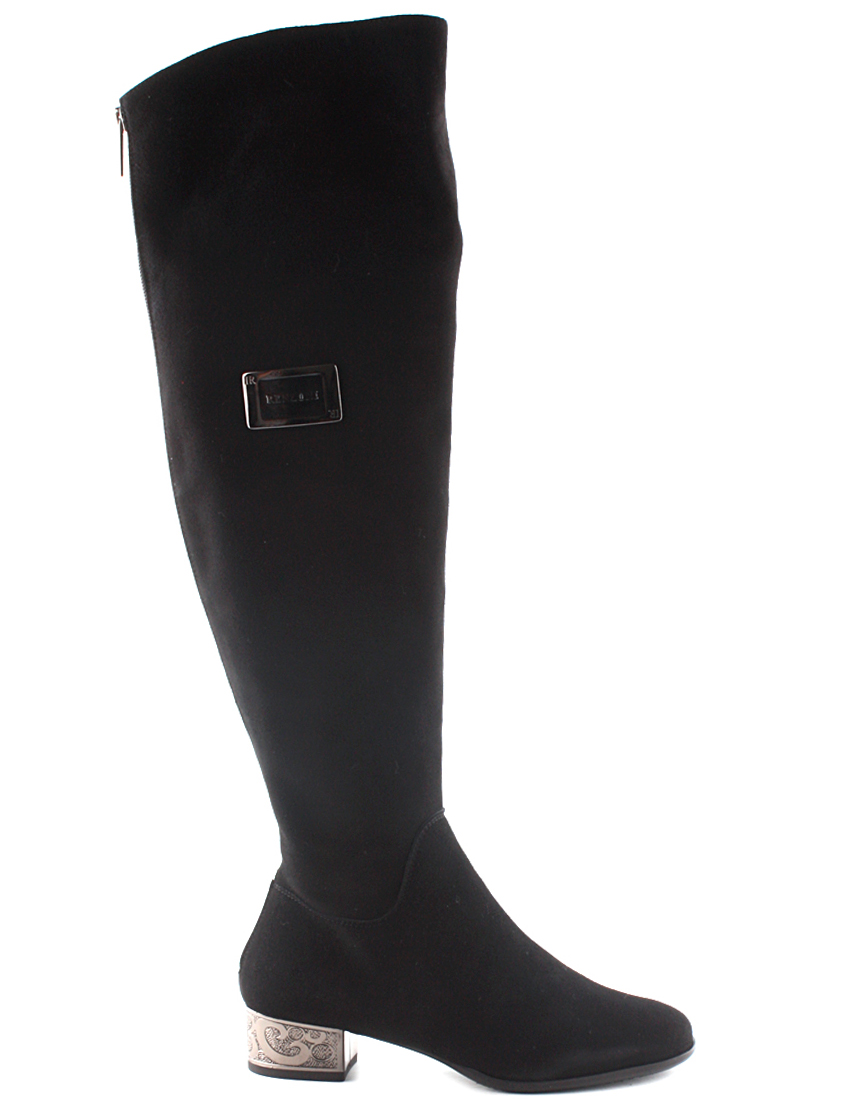 Купить Сапоги на каблуке, RENZONI, Черный, Осень-Зима