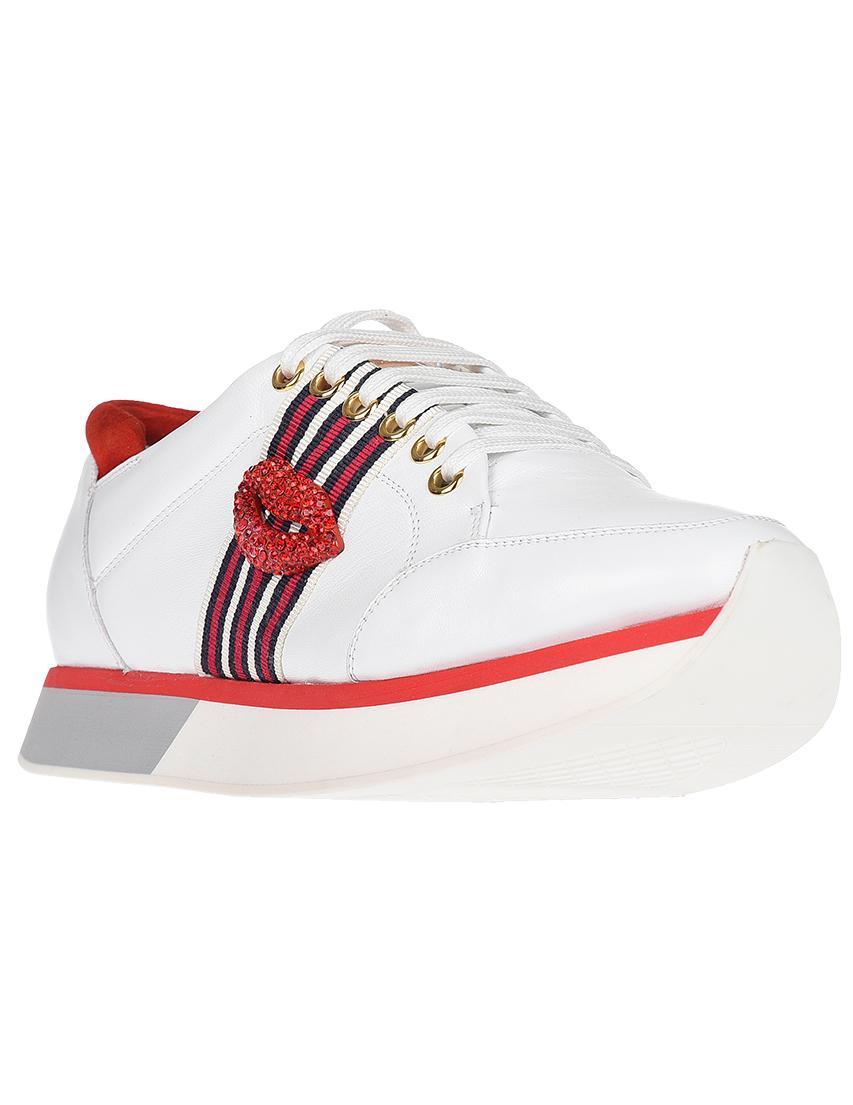 Кожаные белые кроссовки EDDY DANIELE (ITALY)