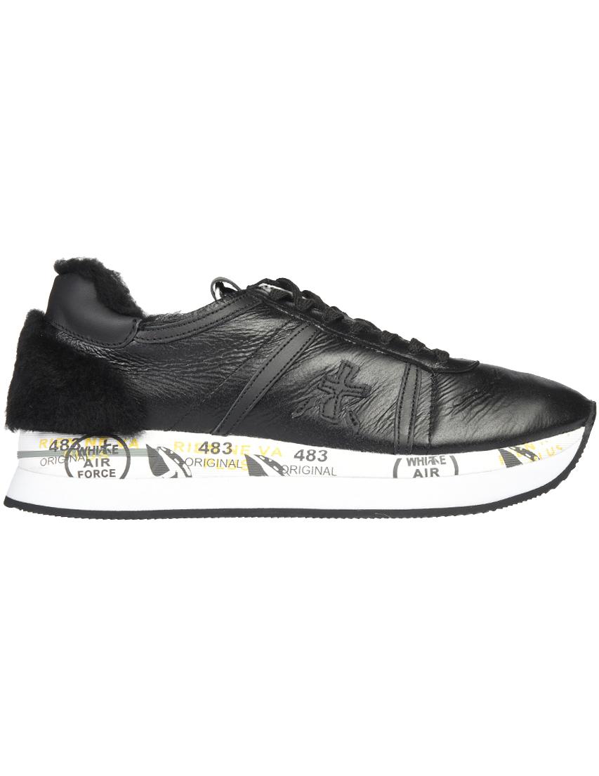 Чёрные кожаные кроссовки PREMIATA (ITALY)