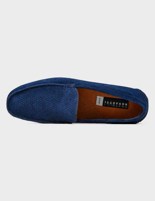 синие Мокасины Fratelli Rossetti S28140-24206-blue размер - 42; 44; 45