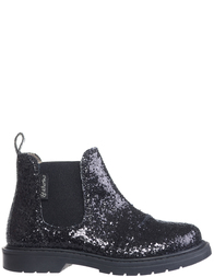 Детские ботинки для девочек Naturino 4494-glitter-nero-black