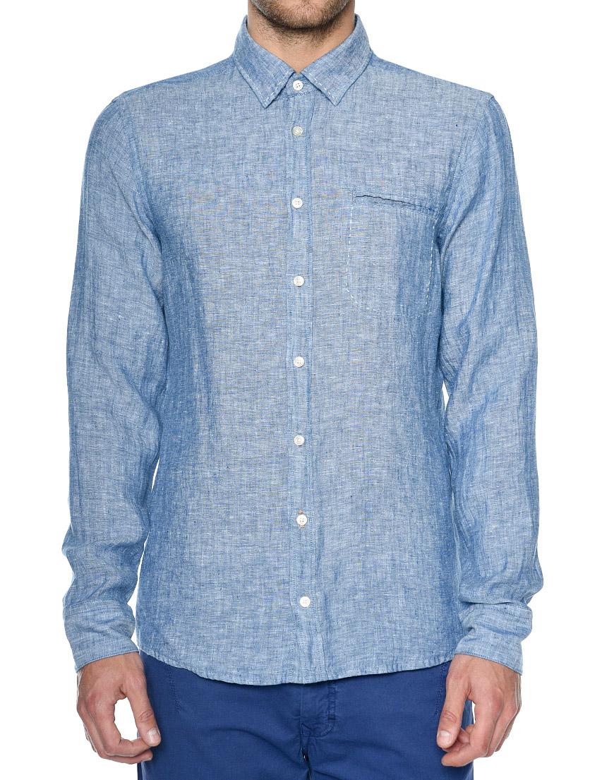 Купить Рубашки, Рубашка, HUGO BOSS, Синий, 100%Лен, Весна-Лето
