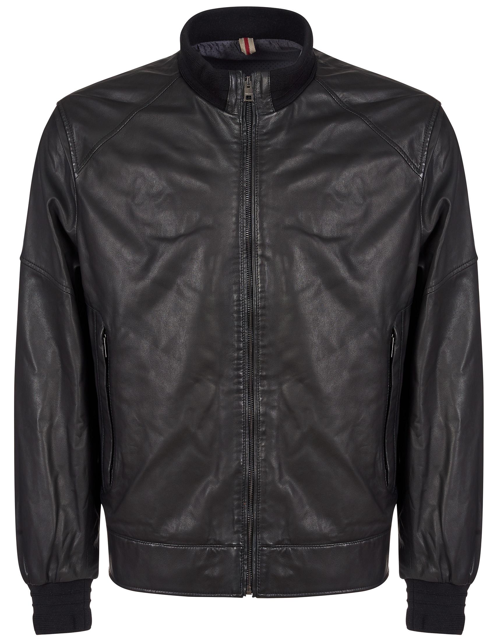Купить Куртки, Куртка, GALLOTTI, Черный, 100%Кожа;100%Полиэстер, Осень-Зима