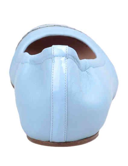 голубые Балетки Casadei 135_blue размер - 40
