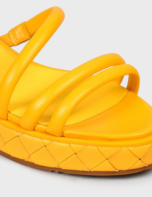 женские желтые кожаные Босоножки What For SS21WF143 - фото-5