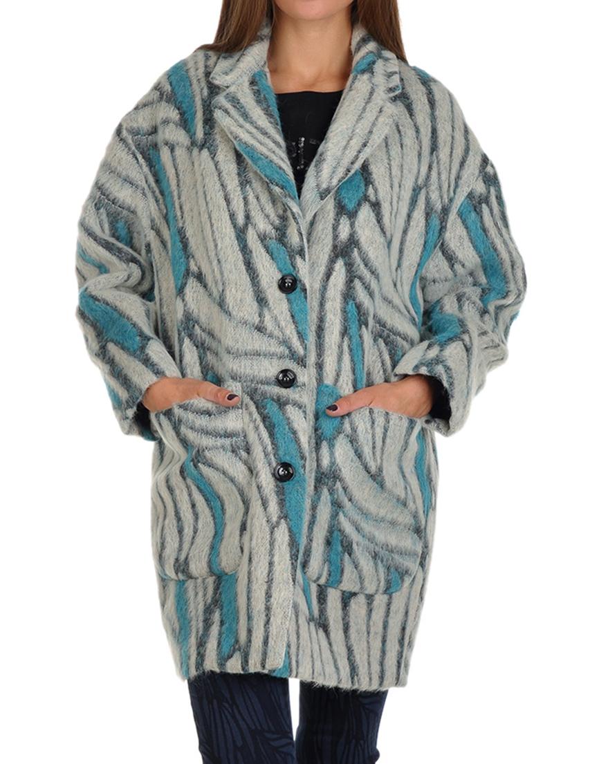 Купить Пальто, PATRIZIA PEPE, Многоцветный, 18%Альпака 4%Хлопок 16%Лана 18%Махер 14%Полиамид 30%Полиэстер, Осень-Зима