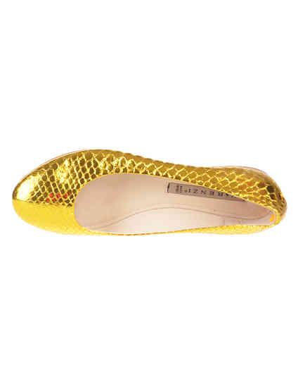 женские золотые Балетки Renzi 501112А_gold - фото-7