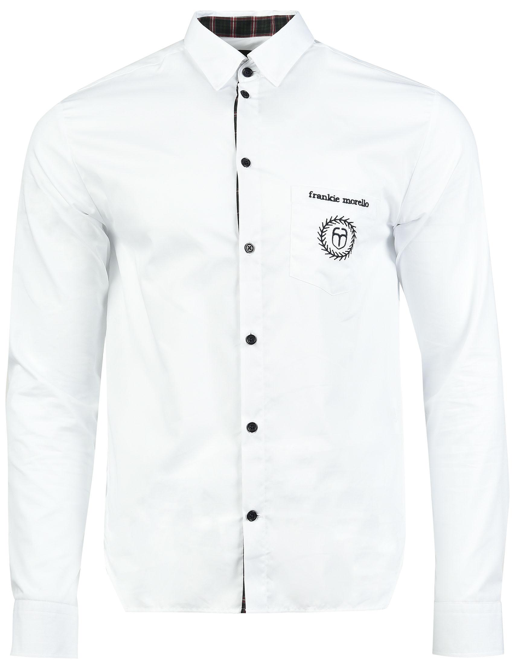 Купить Рубашка, FRANKIE MORELLO, Белый, 100%Хлопок, Осень-Зима