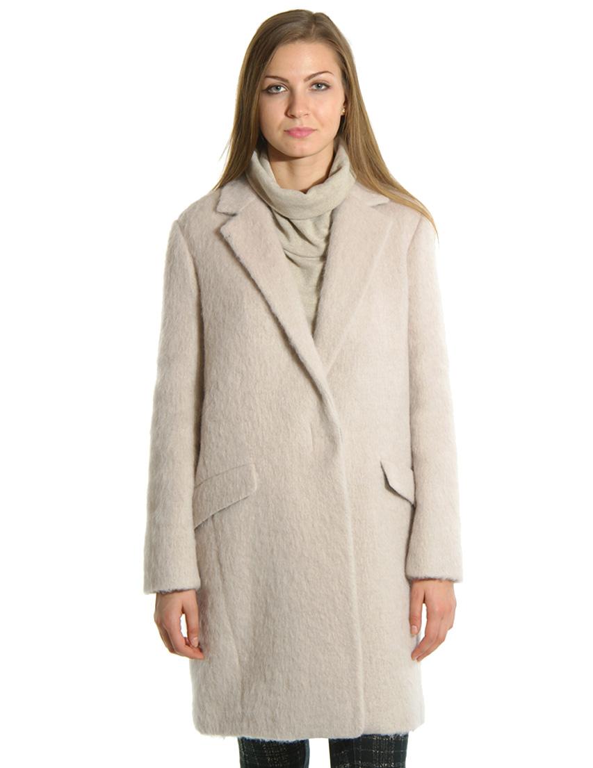Купить Пальто, PATRIZIA PEPE, Бежевый, 22%Акрил 32%Альпака 22%Шерсть 11%Полиамид 13%Полиэстер, Осень-Зима