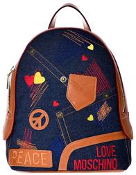 Женский рюкзак Love Moschino 4066_blue