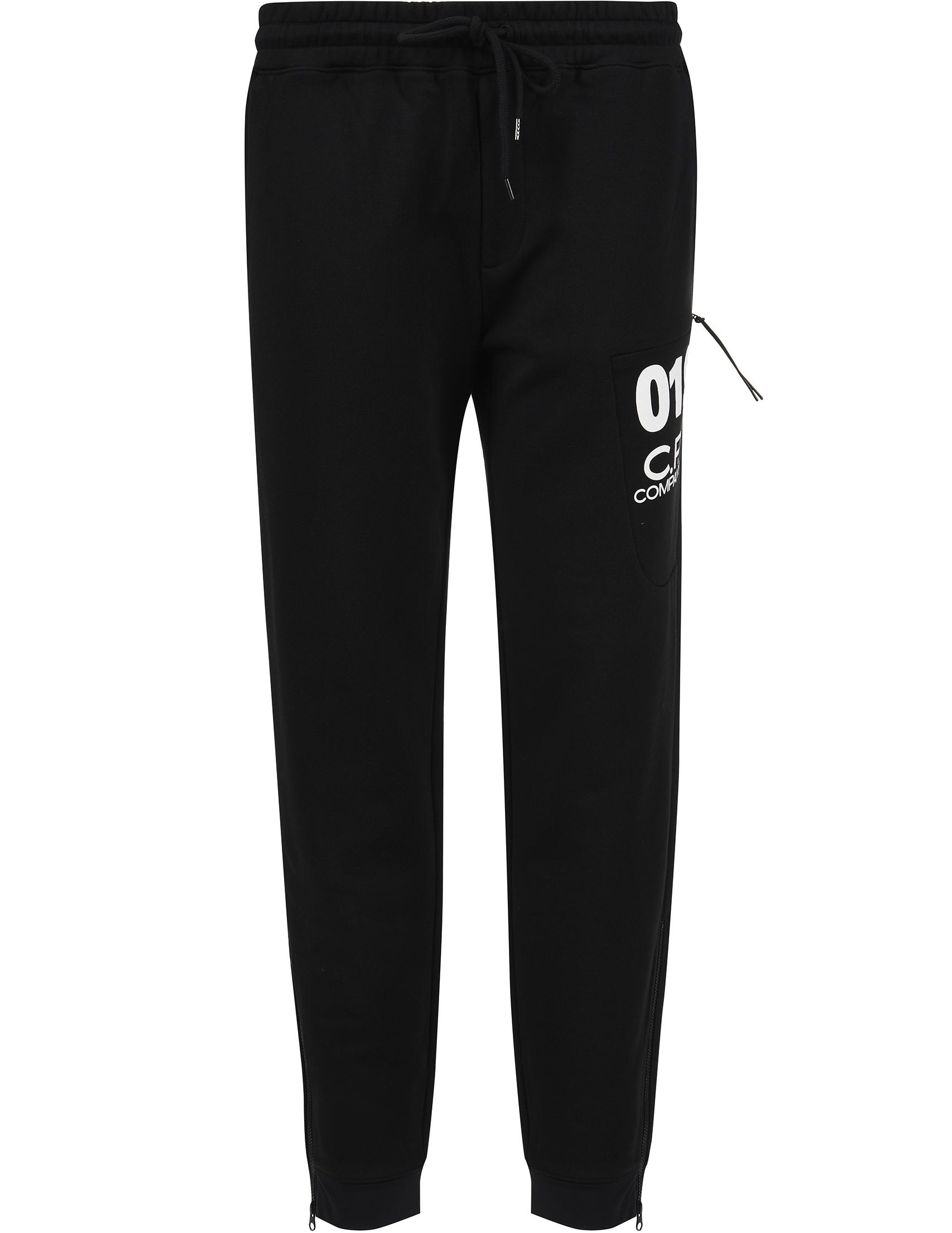 Купить Спортивные брюки, C.P. COMPANY, Черный, 100%Хлопок, Весна-Лето