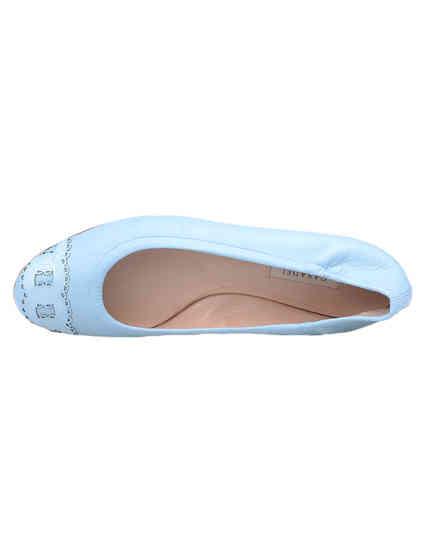 женские голубые Балетки Casadei 135_blue - фото-7