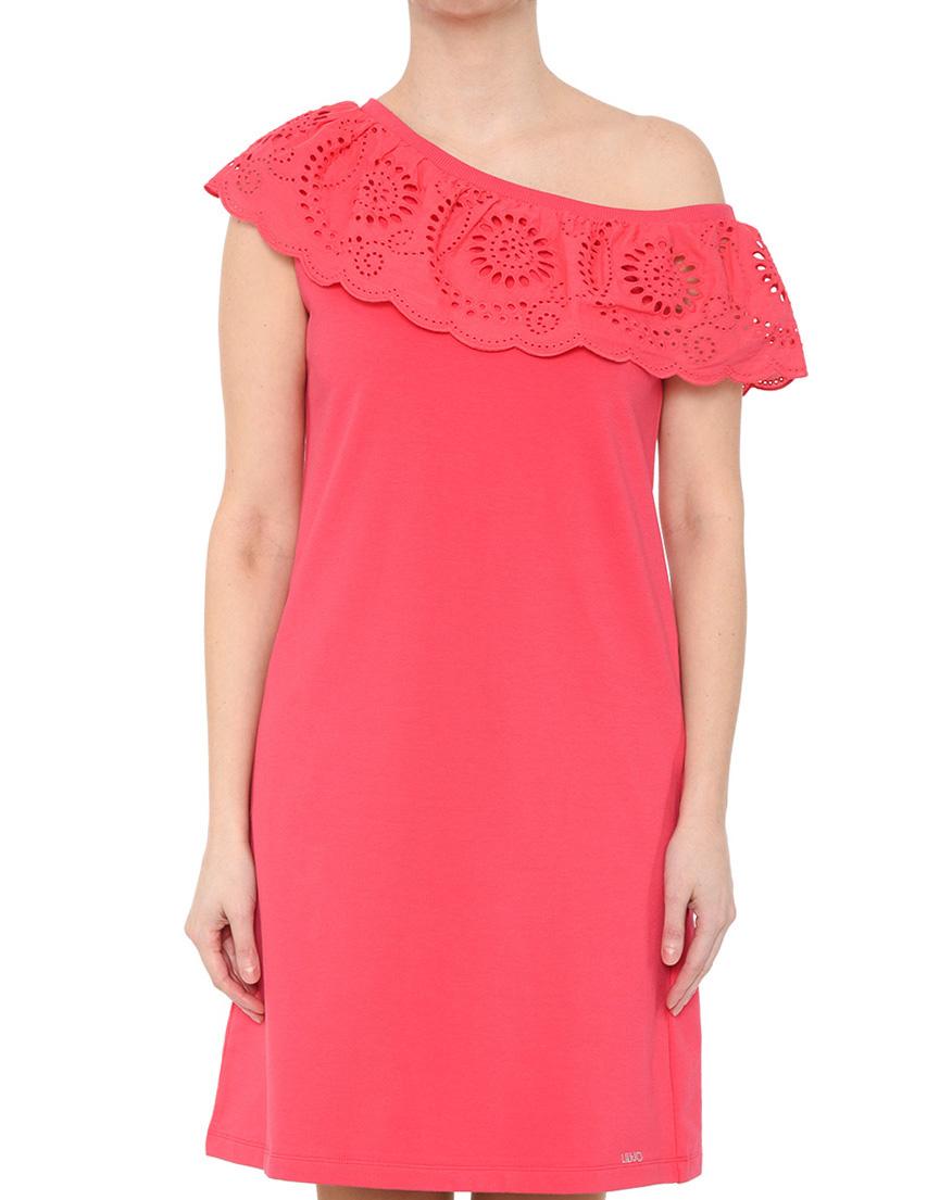 Купить Платье, LIU JO, Розовый, 95%Хлопок 5%Эластан, Весна-Лето
