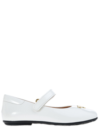 Детские туфли для девочек Moschino 25795-vernice-bianco_white