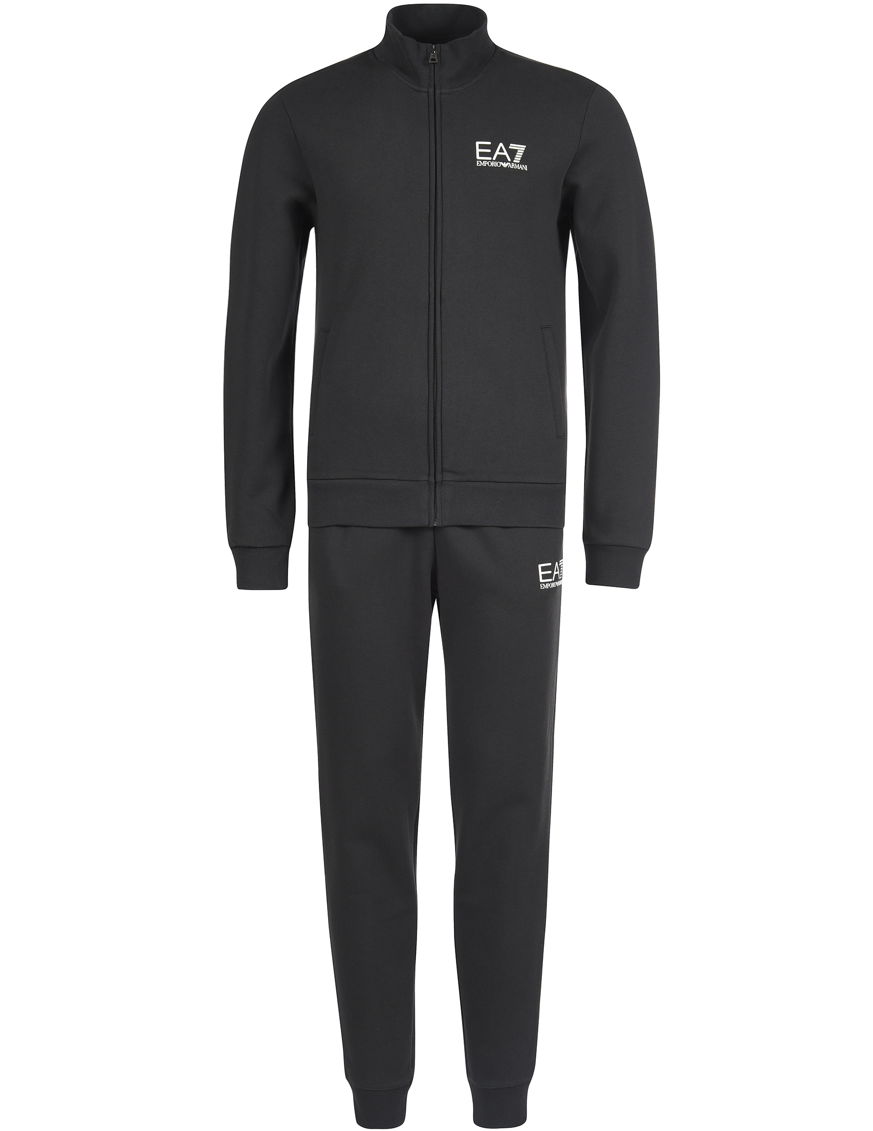Купить Спортивный костюм, EA7 EMPORIO ARMANI, Черный, 84%Хлопок 16%Полиэстер;98%Хлопок 2%Эластан, Осень-Зима