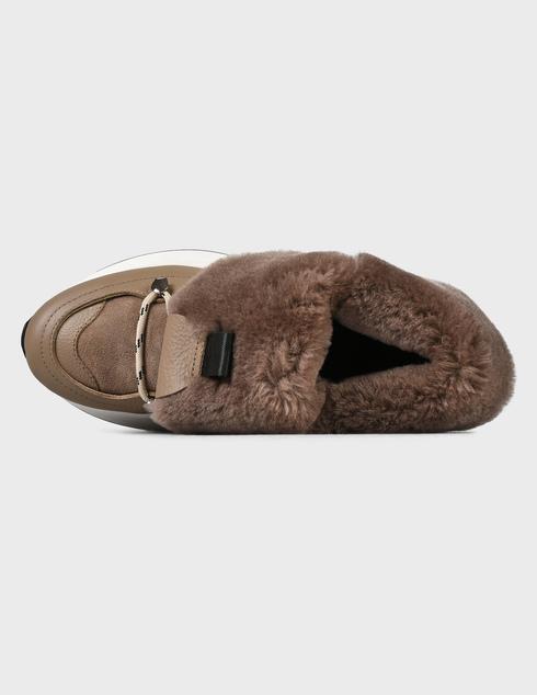женские коричневые кожаные Ботинки Loriblu 2I54620100 - фото-5