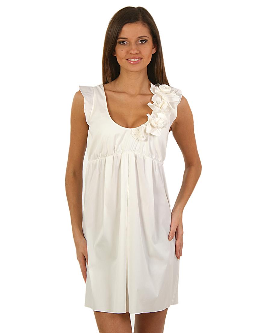 Купить Платье, PATRIZIA PEPE, Белый, 70%Хлопок 3%Эластан 27%Полиамид, Весна-Лето