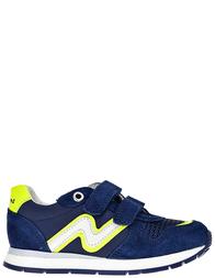 Детские кроссовки для мальчиков Naturino Bomba-navy-giallo_blue