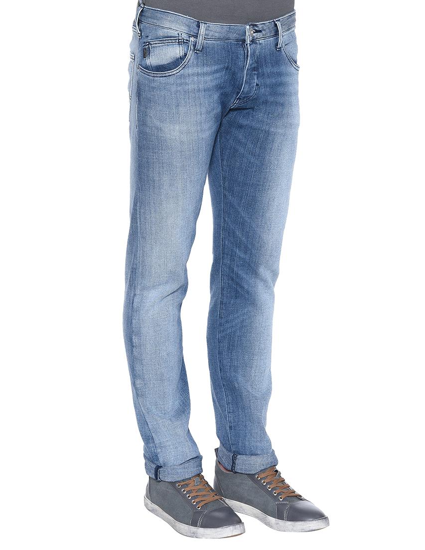 Фото 2 - мужские джинсы  голубого цвета