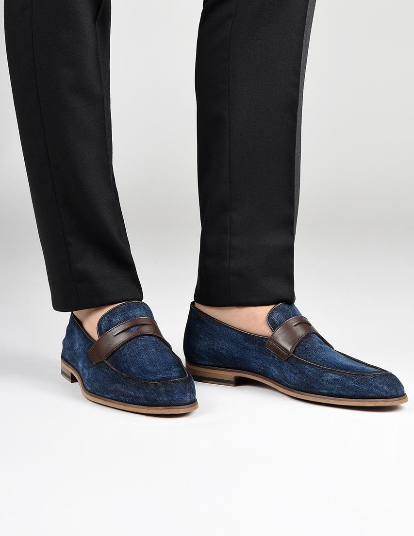 Мужские лоферы DoucalS AGR-1885-blue