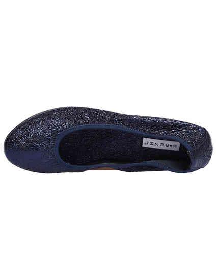 женские синие кожаные Балетки Renzi 1106С_blue - фото-5