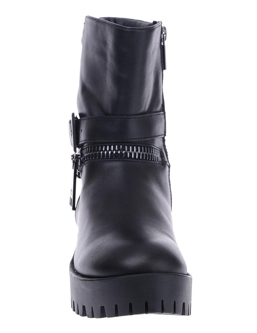 Фото 6 - женские ботинки и полуботинки  черного цвета