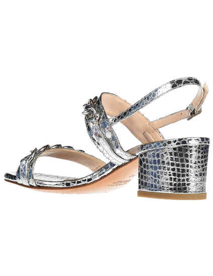 серебряные женские Босоножки Albano 9597_silver 3300 грн