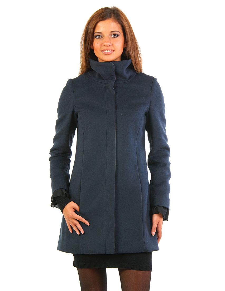 Купить Пальто, PATRIZIA PEPE, Синий, 10%Кашемир 90%Лана, Осень-Зима