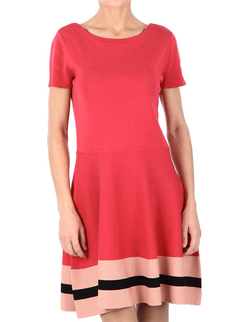 Купить Платье, RED VALENTINO, Коралловый, 100%Хлопок, Осень-Зима