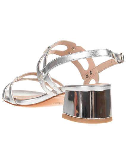 серебряные женские Босоножки Albano 2257-LM-silver 3974 грн