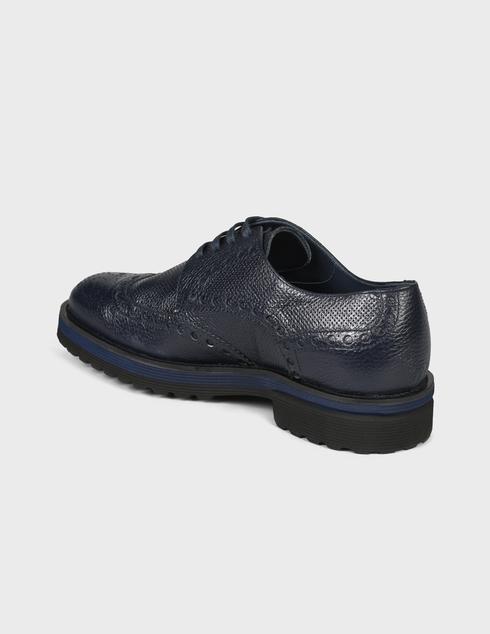 мужские синие Дерби Pertini 191M24221C1-478 - фото-2