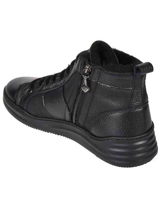 черные мужские Кеды Luca Guerrini 9825-black 7680 грн