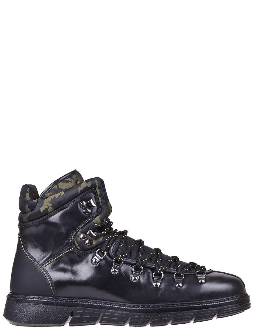 Купить Ботинки, BARRACUDA, Черный, Зеленый, Осень-Зима