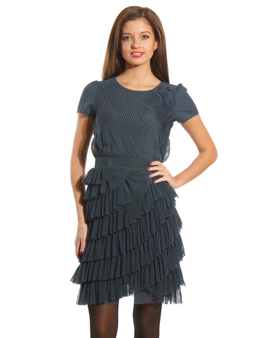 Купить Платье, PATRIZIA PEPE, Серый, 100%Полиэстер, Осень-Зима