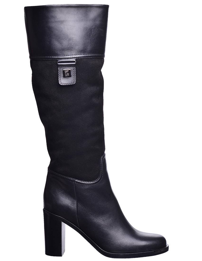 Купить Сапоги на каблуке, BALLIN, Черный, Осень-Зима