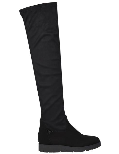 женские черные замшевые Ботфорты Ilasio Renzoni 4117-black - фото-5