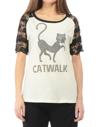 Женская футболка TWIN-SET K2A4PVRUG/NERO