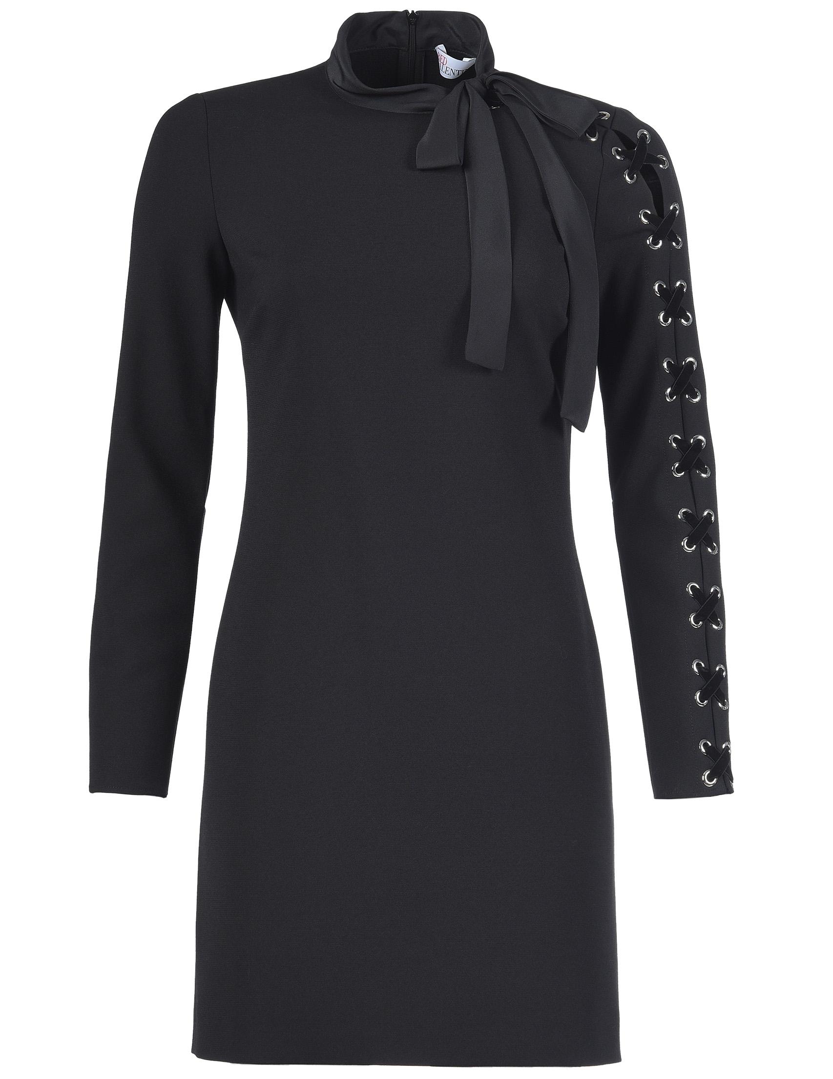 Купить Платье, RED VALENTINO, Черный, 80%Полиамид 14%Вискоза 6%Эластан;100%Полиэстер, Осень-Зима