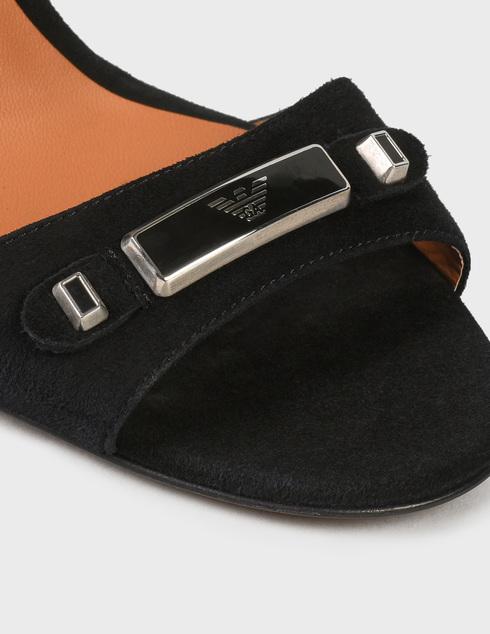 женские черные замшевые Босоножки Emporio Armani AGR-X3P754XF15900002 - фото-5