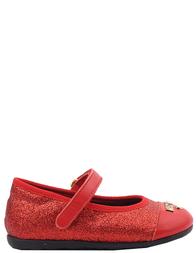 Детские туфли для девочек MOSCHINO 25190-red