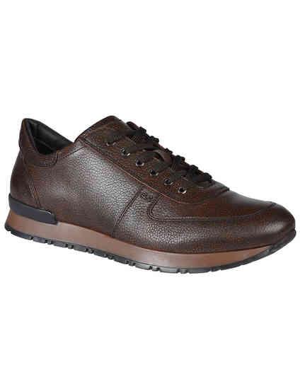 мужские коричневые Кроссовки A.Testoni 70443-94585_brown - фото-2