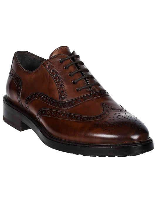 мужские коричневые Оксфорды Brecos 9130 - фото-2