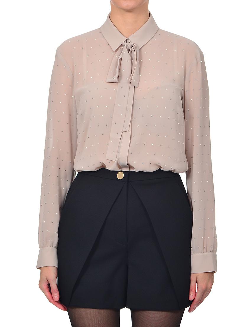 Купить Блуза, PATRIZIA PEPE, Бежевый, 100%Полиэстер, Осень-Зима