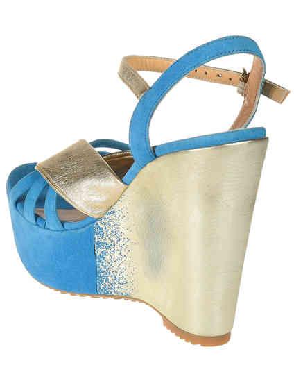 голубые женские Босоножки Donna Piu 51141_blue 1350 грн