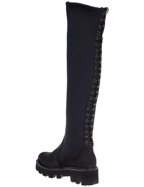 женские черные Ботфорты Napoleoni 4322_black - фото-2
