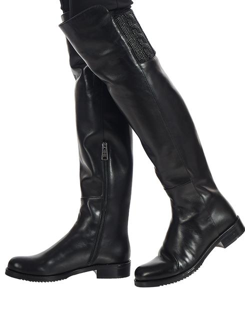 женские черные кожаные Ботфорты Loriblu 81K2T119KK - фото-5
